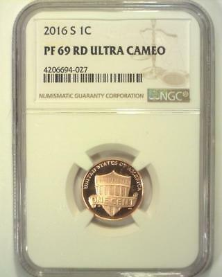 2016-S Lincoln Union Shield Cent Proof Certified Ngc Pf69 Red Ultra Cameo ~S630