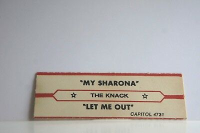 "The Knack. My Sharona / Let Me Out.  Jukebox Title Str7"" 45RPM Records"