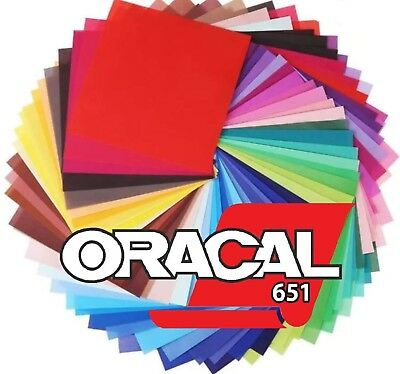 """12"""" Oracal 651 Vinyl Bundle - 10 sheets - Choose any Colors  - 4 Sign & Decal"""