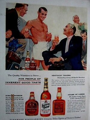 Vintage Gay Ad? 1956 Kentucky Tavern Original Print Ad  9 x 11""