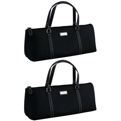 2PK Avanti Wine Bottle Insulated Cooler Handbag Tote Carrier Purse Bag Black