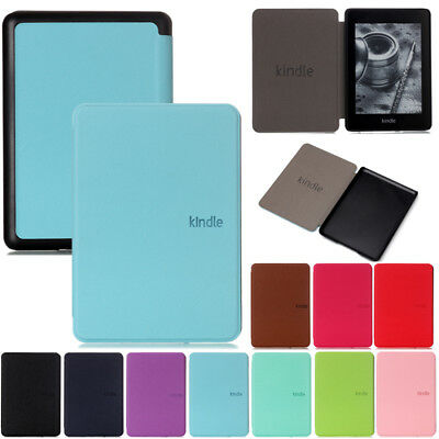 """For New Kindle Paperwhite 2018 6"""" 10th Gen Smart Leather Ultra Slim Case Cover"""