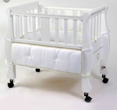 Arms Reach Co Sleeper Sleigh Wooden Bed
