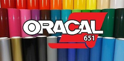 """12"""" x 3' yard - Oracal 651 Vinyl - 2 rolls - Choose any Colors  - 4 Sign & Decal"""