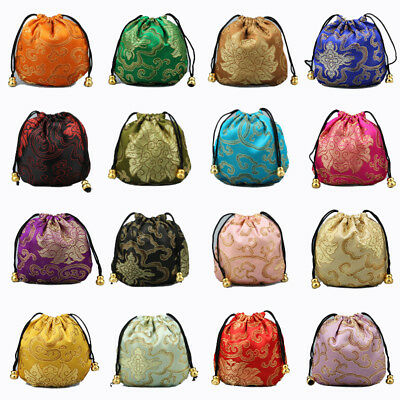 Satin Silk Weddding Favour Gift Bags Drawstring Jewellery Pouches Wholesale
