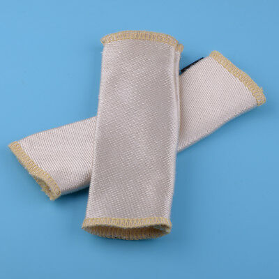 Beige TIG Finger Safety Welding Gloves Heat Shield Cover Guard Protection