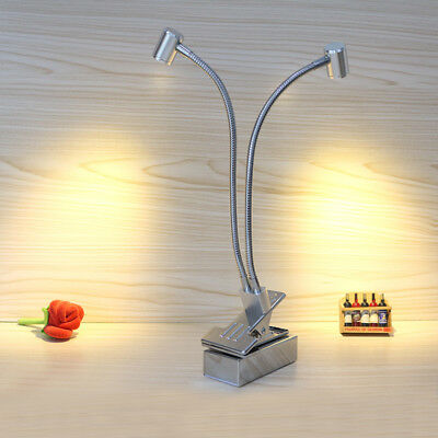 6W LED Picture Light Battery-Powered Clip Clamp Lamp Button Cabinet Rechargeable