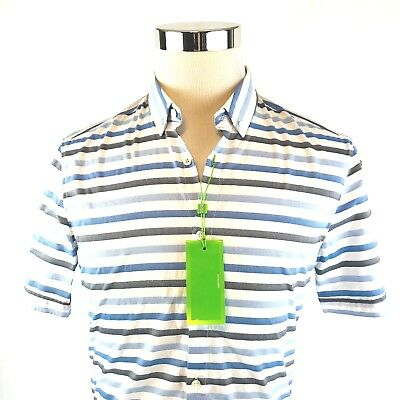 0faaf043 Hugo Boss Green Label Beltrame Slim Short Sleeve Button Down Shirt Mens  M/XL NWT