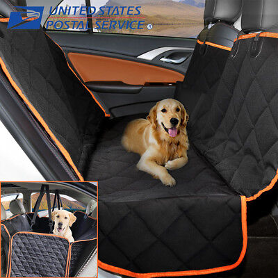 Dog Car Seat Cover Waterproof Hammock for Cat Pet SUV Back Rear Bench Non-slip