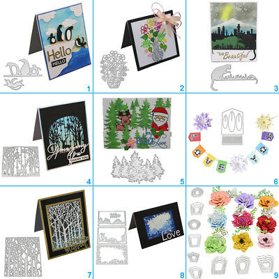 Tree Flower Cutting Dies Metal Stencil DIY Scrapbooking Album Paper Card Art Cat
