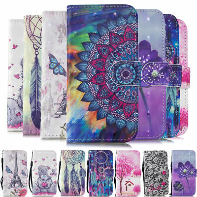 For Huawei Honor 8 9 Lite 7A 7C 7S 8X 3D Painted Case Flip Leather Wallet Cover