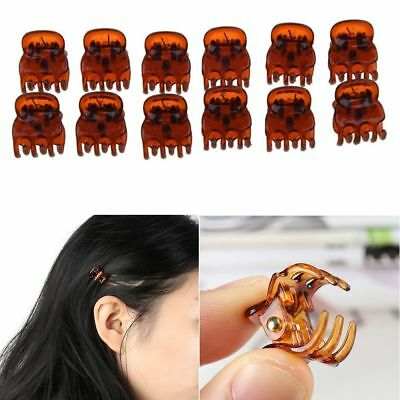 12x Plastic Mini Hair Claw Clamps Clips Grips Style Fashion Accessories