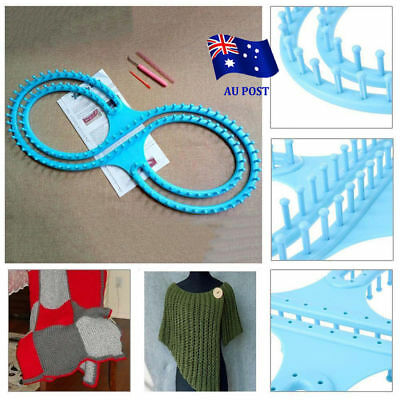Round Looms Knitting Knitter Ring Set Craft Tool Kit For Sock Scarf Hat FO
