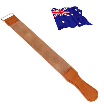 Pro Straight Razor Knife Sharpening Shaving Shave Straps Leather Strop Manual FO