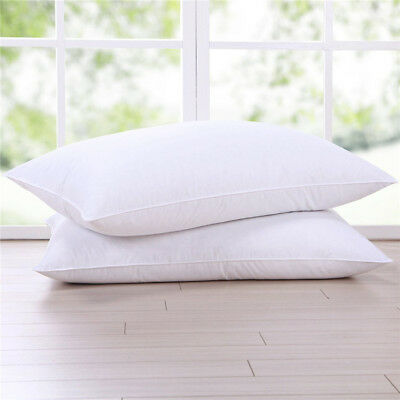 Bedding Duck Feather Down Pillow Twin Pack Standard Size 45cm*75cm Fluffy Hotel
