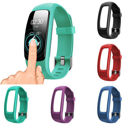 Silicone Replacement Watch Band Strap with Frame Case for ID107 Plus Smart Watch