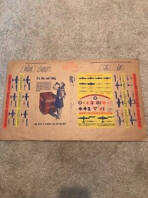 1940 COCA COLA BOOK COVER WITH WAR PLANES RARE Original Kansas City MO