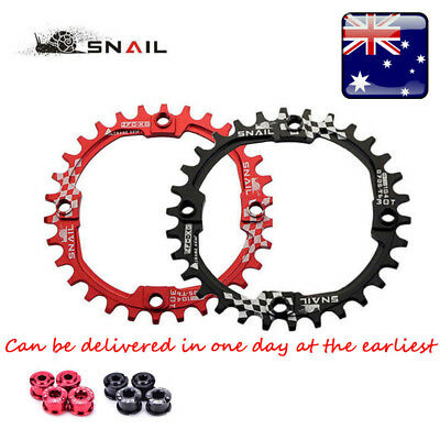 SNAIL Bike Crank 104BCD Round 30T Chainring Narrow Wide Circle Crankset Plate AU