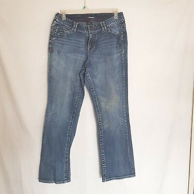 Lane Bryant Boot Cut Flare Jeans Size 16  Light Wash Womens Embroidery Pockets