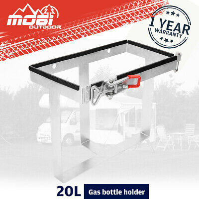 20L Bolt On Jerry Can Holder Galvanized Lockable For Camper Trailer Caravan 4WD