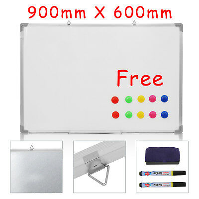 Large Magnetic Whiteboard Dry Wipe Drawing Board&eraser Office Schol Notice Uk