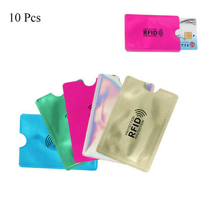 10pcs Credit Card Protector RFID Blocking Aluminum Safety Sleeve Anti Theft