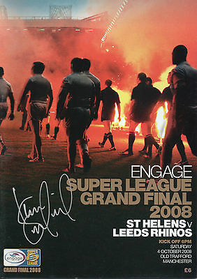 KEVIN SINFIELD In Person Signed Programme SUPER LEAGUE FINAL 2008 Proof COA
