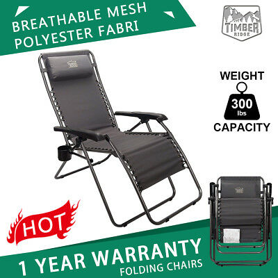 Patio Furniture For Over 300 Lbs.2 Zero Gravity Lounge Chair Recliner Padded For Outdoor Patio Support 300 Lbs