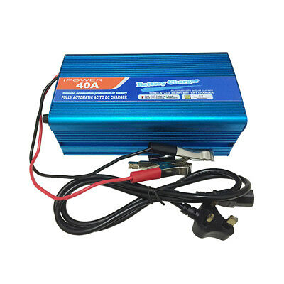 12 Volt 40 Amp 12V Automatic Intelligent Leisure Battery Charger Fast Car Van
