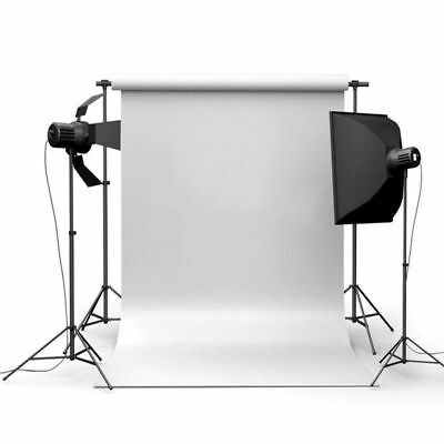 7x5FT Thin Vinyl White Photography Background Screen Studio Backdrop Photo Props