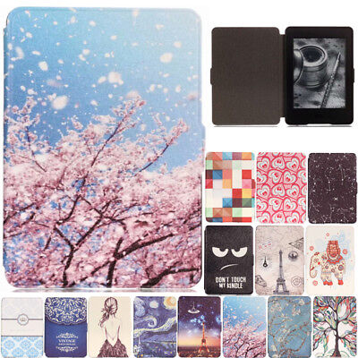 For Amazon Kindle Paperwhite 1 2 3 Smart Painted Flip Leather Stand Case Cover