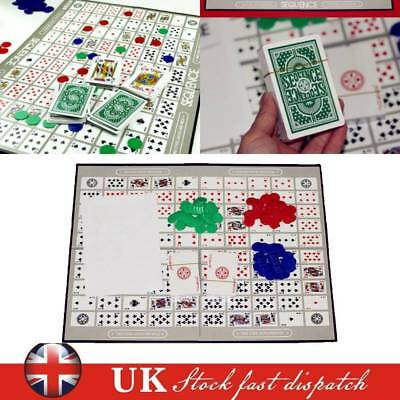 SEQUENCE BOARD GAME Family Party Board Game Cards Against Humanity Fun Xmas Gift