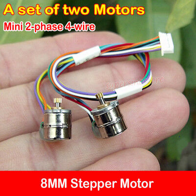 2PCS Micro Mini 8MM Stepper Motor 2-phase 4-wire Stepping Motor DIY Camera Parts