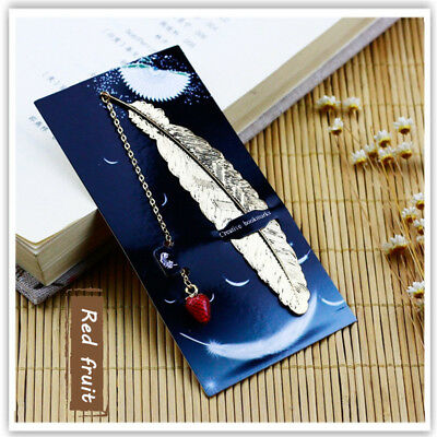 Stationery Package Retro Metal Feather Bookmark Page Creative Book Mark Korean