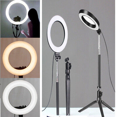 Hot Useful LED Photography Ring Light Dimmable 5500K Lighting Photo Video Stand