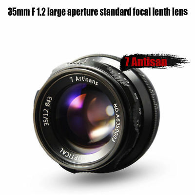 7Artisans 35mm F1.2 APS-C Focus Fixed Prime Manual Lens for Fuji X Camera