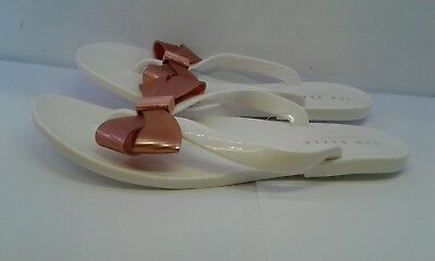 7352f423a93b Ted Baker Suszie Bow Detail Flip Flop Sandals White Rose Gold Women s Size  Uk 6