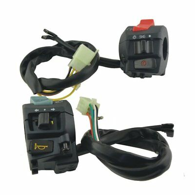 "Universal Motorcycle ATV 7/8"" Handlebar Horn Turn Signal Light Control Switch I#"