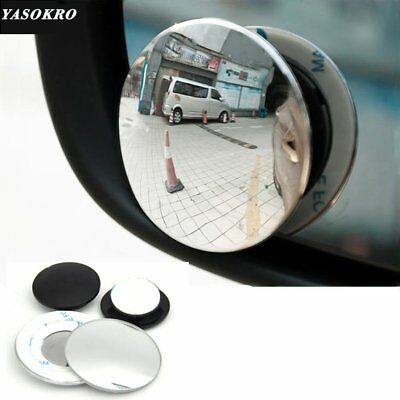 Pair 360 degree Wide angle Car Blind Spot Rearview Mirror Small Round Mirror I#