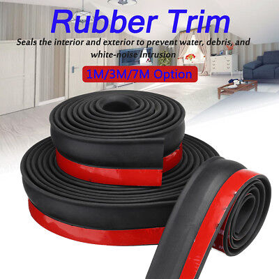 1-7m Garage Door Bottom Weather Stripping Rubber Seal Strip Replacement Seal