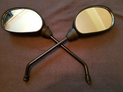 Universal Motorcycle Scooter Mobility  Mirrors Pair X2 8Mm Thread Left / Right