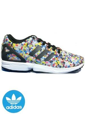 wholesale dealer 9b882 99bfe adidas Unisex ZX Flux Photo Print Multi-Color Torsion Trainers - CM7839