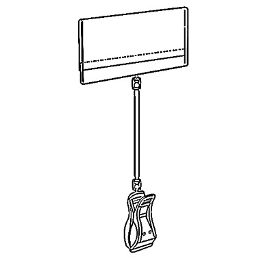 POP ROTATING SIGN HOLDER CLIP MERCHANDISE CLAMP WITH ROD LABEL 2''x3'' SET OF 10
