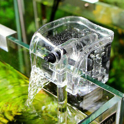 Mini Aquarium Fish Tank Waterfall Hang On External Oxygen Pump Water Filter KXB