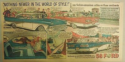 """Ford  Ad: """"The World of Style""""  from 1958"""