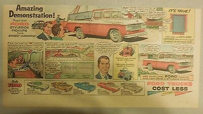 """Ford  Ad: """"Ford's Styleside Pickup Trucks  from 1958"""