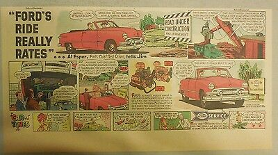 """Ford  Ad: """"Ford's Ride Really Rates""""  from 1950's"""