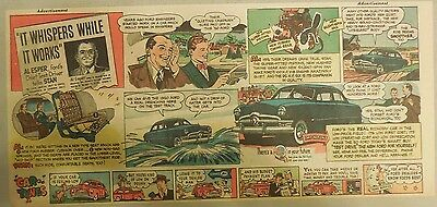 """Ford  Ad: """"It Whispers While It Works""""  from 1950"""
