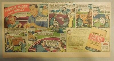 """Johnson's Auto Wax Ad """"Fibber McGee and Molly Radio Show!"""" from 1930's - 40's"""