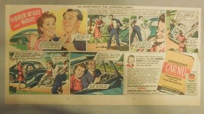 """Johnson's Auto Wax Ad """"Fibber McGee and Molly Radio Show!"""" from 1930's"""